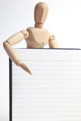 デッサン人形とノート