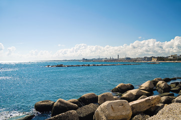 Panoramic view of Bari. Puglia. Italy.