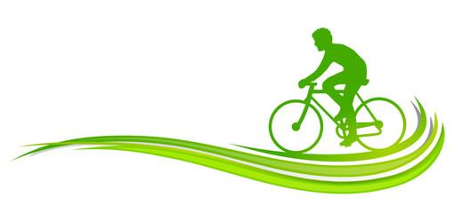 Radfahren grüne Welle