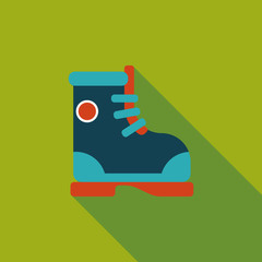 Boot flat icon with long shadow