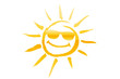 canvas print picture - Sonne mit Sonnenbrille