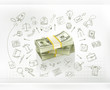 Money, business infographics vector