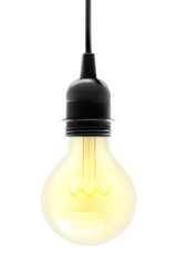 Electric light bulb, vector illustration