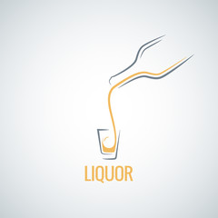 liquor shot glass bottle background
