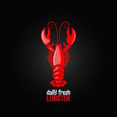 lobster seafood menu design background