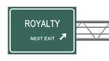 Road sign to royalty poster