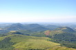Leinwanddruck Bild - les montagnes du puy de dome et volvic