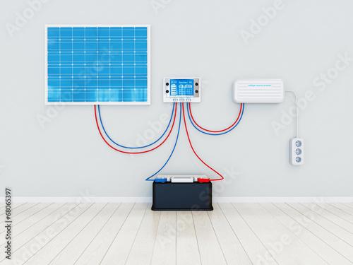 Photovoltaik Anlage Anschlussplan - Übersicht - 68065397