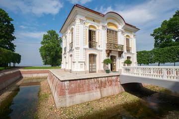 Hermitage pavilion in Peterhof Palace, Saint Petersburg, Russia