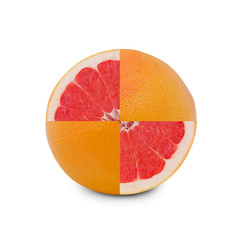 Grapefruit isolated