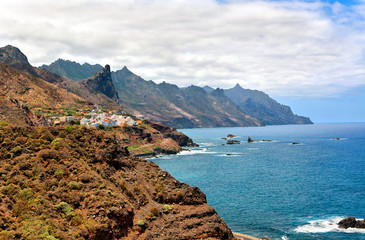 Rocky Atlantic ocean coast near Benijo, Tenerife, Canary islands