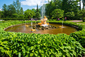 Triton Fountain in Peterhof Palace, St. Petersburg, Russia
