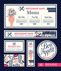 Bon appetit Restaurant Set Menu Graphic Design Template