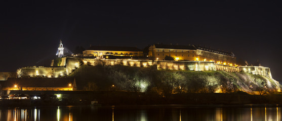 Petrovaradin Fortress Novi Sad, Serbia at night. HDR photo.