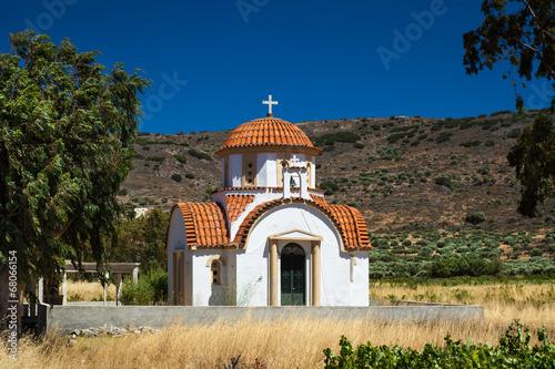 canvas print picture Greek Church on Crete