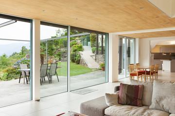 interior, living room room, veranda view