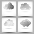 Set of backgrounds with triangular clouds