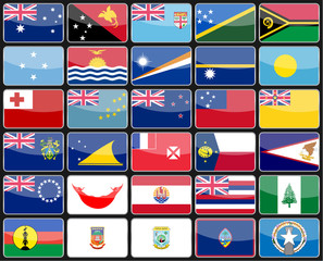 flags of the countries of Australia and Oceania