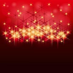 Hintergrund mit roten und goldenen Sternen
