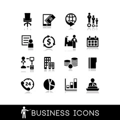 Business icons : office,service,success,management