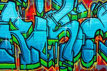 Abstract Graffiti Wall Design