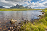 Lochan Hakel with Ben Loyal in the back, Scotland poster