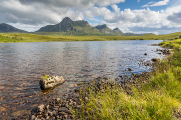 Lochan Hakel with Ben Loyal in the back, Scotland