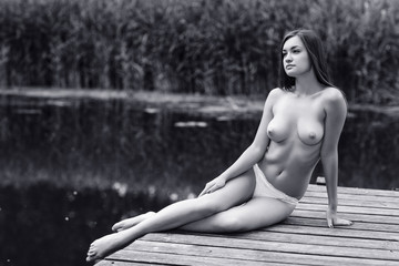 Beautiful young nude woman