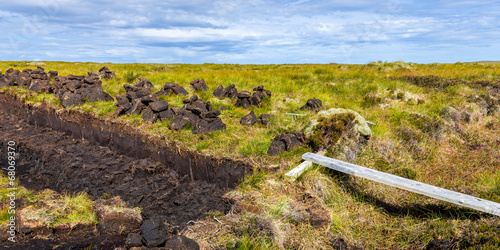 canvas print picture Peat cutting #2, Scotland