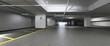 Leinwanddruck Bild - Garage Parcheggio Sotterraneo