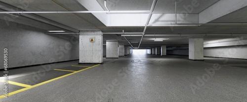 Leinwanddruck Bild Garage Parcheggio Sotterraneo