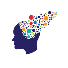 Concept of networking brain logo