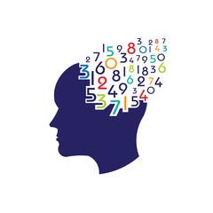 Concept of mathematical brain logo