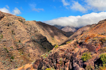 Beautiful view of the mountains, La Gomera, Spain