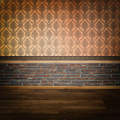 Vintage background of the wall with decorative patterns.