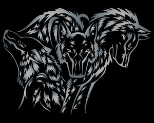 Cerberus Dog Vector