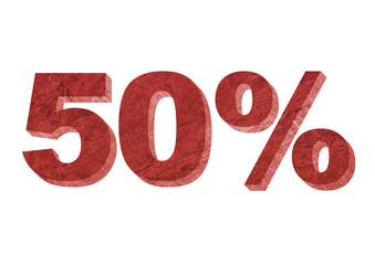 50% Sólido Vermelho