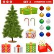 Vector Christmas Icons Set 3