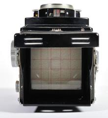 A vintage 1950's  twin-lens-reflex camera.