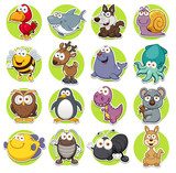 Fototapety Vector illustration of Animals set Cartoon