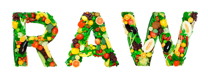 Healthy alphabet - RAW