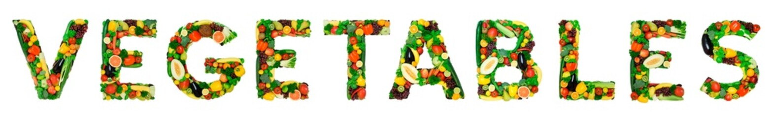 Healthy alphabet - VEGETABLES