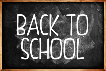 Back to school blackboard