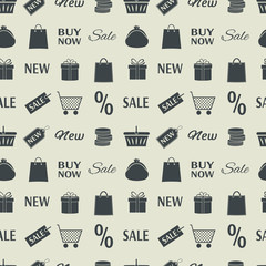 Shopping seamless pattern.