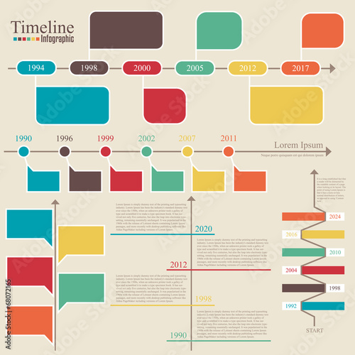 Timeline Infographic Vector Design Template Buy Photos AP - Timeline design template