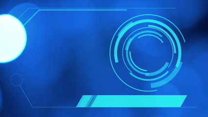 hologram interface, blue abstract motion background