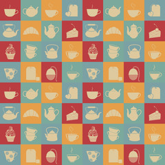 Tea seamless pattern