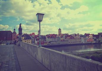 Altstadt Panorama Regensburg