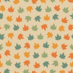 Seamless pattern with leafs.