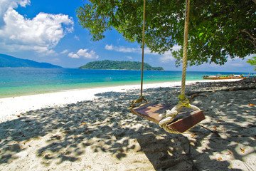 Swing and view of Andaman sea,Thailand